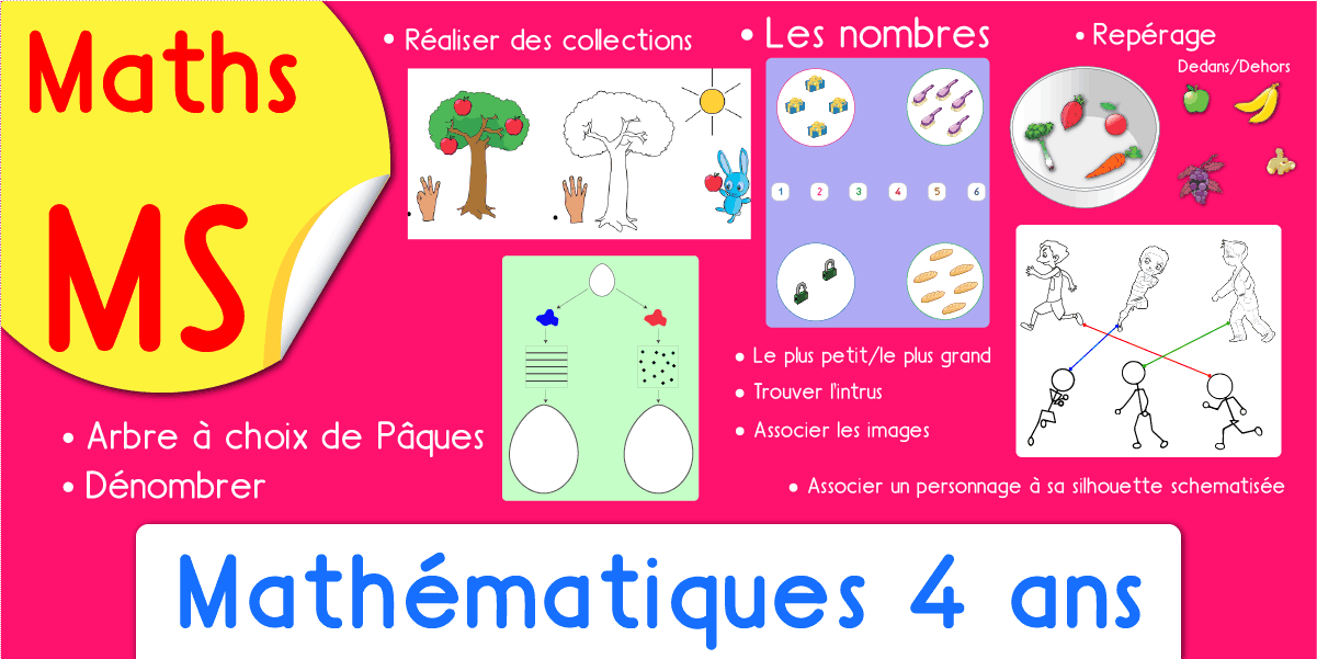 Exercices Maths Ms Mathematiques Maternelle Moyenne Section