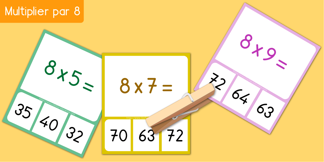 Table de 8 test de multiplication en ligne quiz memory fiche - Table de multiplication en ligne ...